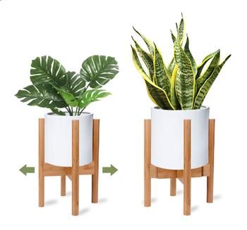 Mid Century Wooden Plant Stand Adjustable Modern Indoor Flower Holder Stand For Living Room Buy Wooden Adjustable Plant Stand Bamboo Plant Stand Modern Adjustable Plant Stand Product On Alibaba Com