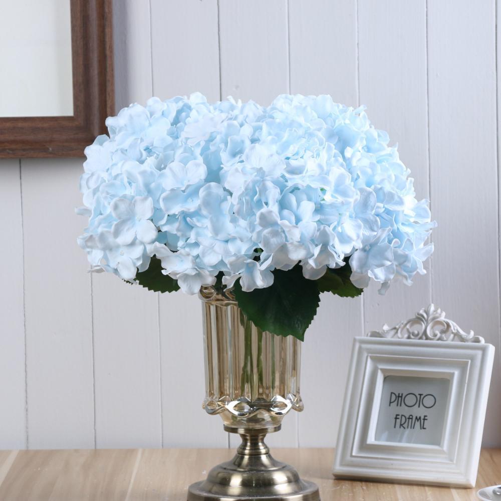 Fabbrica Diretta 5 Rami Ortensia Fiori Artificiali Bouquet Per La Cerimonia Nuziale Della Decorazione Della Casa