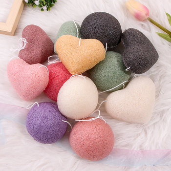Large Japanese Facial Bamboo Charcoal Natural Konjac Sponge