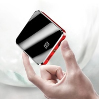 Mini Power Bank 10000mAh For phone Portable External Battery Pack Power bank with Mirror Screen Digital Display