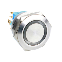 12Mm 16Mm 19Mm 22Mm 25Mm 30Mm Round Waterproof Ip67 Metal Push Button Momentary Latching Switch