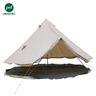 Family Tent Hot Sale Waterproof Family Camping 5m Sandstone Canvas Bell Tent