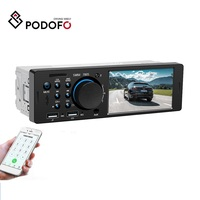 "Podofo 1 Din Car DVD Radio Audio Stereo FM Bluetooth MP5 Multimedia Player 4.1"" Autoradio TF/AUX/USB 12V In-dash Remote Control"
