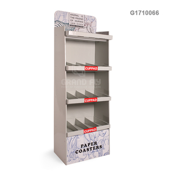 Corrugated Cardboard Display Stand of Stationery / office supplies