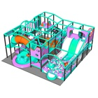 Custom design plastic mini city obstacle game toddlers indoor playground for children entertainment