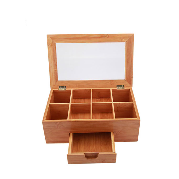 Factory Direct Wholesale Wooden Bamboo Tea Storage Box