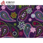 sufficient inventory 300T soft smooth paramecium floral pongee lining fabric for garment home textile