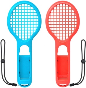 Adjustable wrist straps for Nintendo Switch Accessories, Twin Pack Tennis Racket for Mario Tennis Aces Game,Tennis Racket
