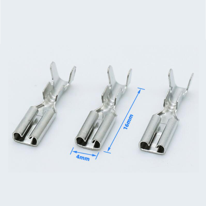 50sets/100pcs 2.8mm 4.8mm 6.3mm פליז PCB חשמל בידוד שרוול נקבה ספייד מלחץ מחבר מסוף עבור 22-16AWG