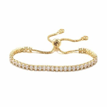 Wholesale 3mm Adjustable CZ Cubic Zircon Stone Chain Tennis Bracelet