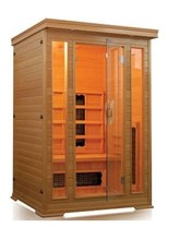 Luxe draagbare solid red cedar/hemlock houten <span class=keywords><strong>sauna</strong></span> met keramische infrarood <span class=keywords><strong>sauna</strong></span> kachel <span class=keywords><strong>buis</strong></span>