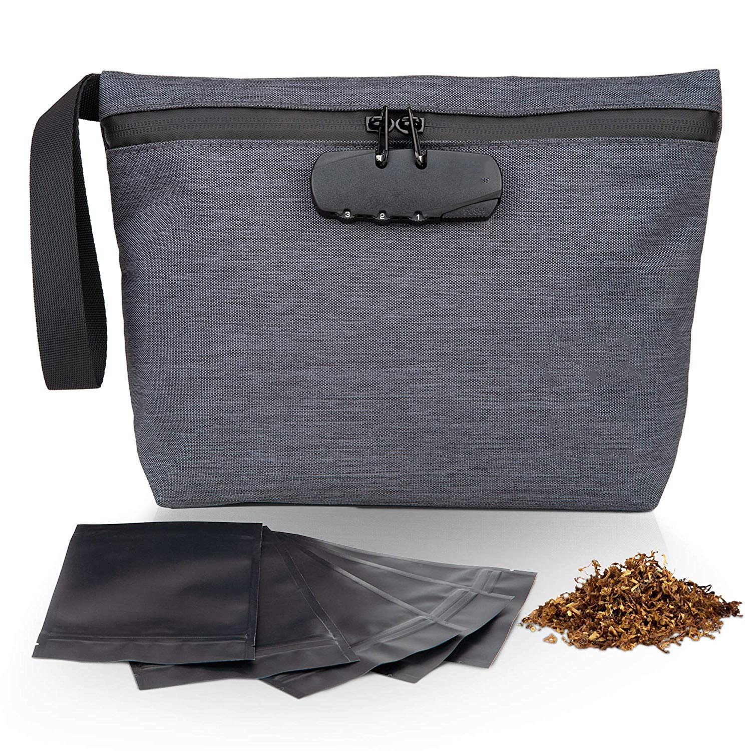Custom Odorless Weed Bags Smell Proof Carbon Bag With Lock