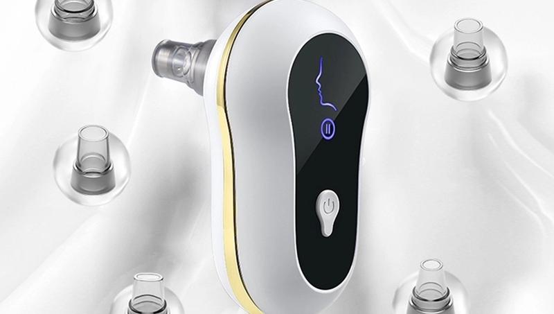 Vácuo Kit Removedor de cravo Pore Vácuo USB Recarregável, Ferramenta Cravo Removedor de Acne/Comedões/pele Dura