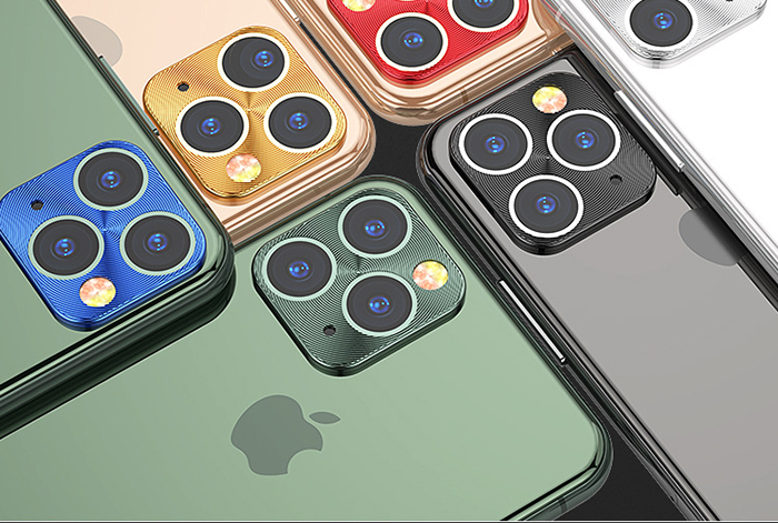 Shockproof protective color titanium alloy metal camera lens protector for iphone 11 pro max