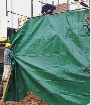 10ftx20ft Heavy Duty Contractor Grade Black/Green Poly Tarps,rooftop covers,waterproof for Ground Sheet and Building Safety