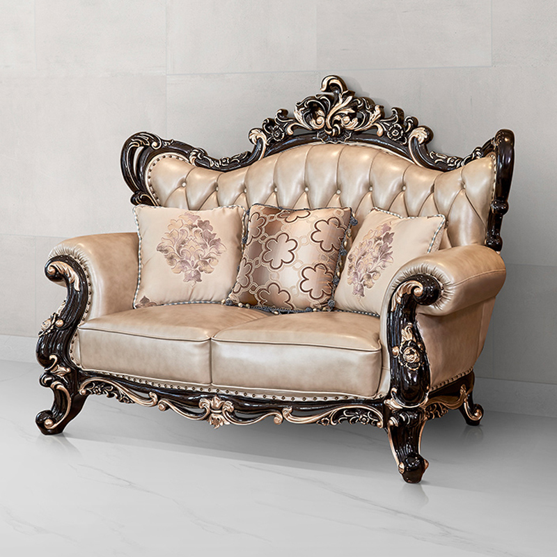 2020 new arrivals Luxury Home Furniture antique Solid Wood Living Room Sofa