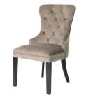 button tufted velvet upholstered dining chair w nailheads