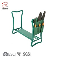 Folding Garden Kneeler and EVA Seat with Tool Pouches