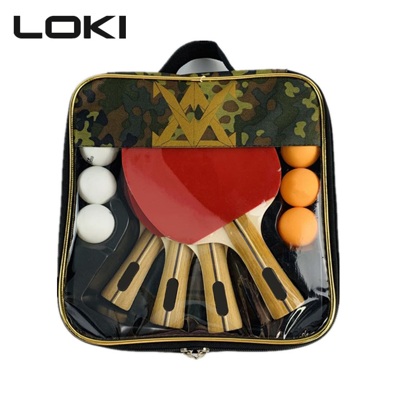(لوكي) شعار مخصص نوعية جيدة مضرب تنس الطاولة الإحترافى مجموعة