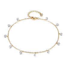 Dainty <span class=keywords><strong>Braccialetto</strong></span> di <span class=keywords><strong>Caviglia</strong></span> 14 K Gold Filled Cz Catena Del Piede Cavigliere Gioielli
