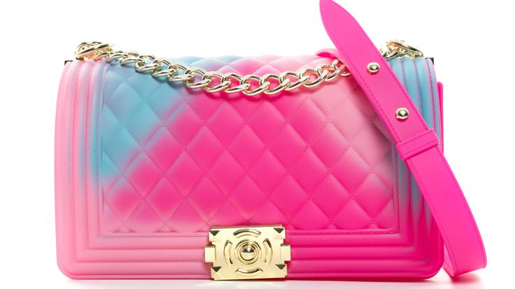 2020 new arrivals fashion summer ladies luxury rainbow crossbody bag colorful PVC designer jelly candy purse bags women handbags