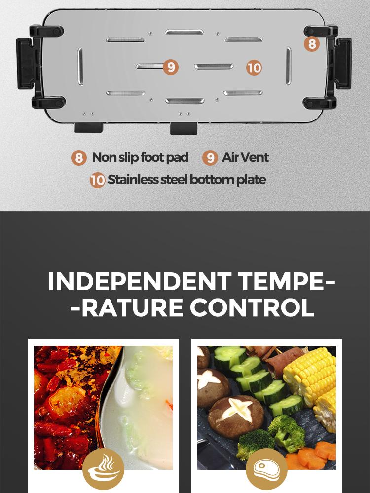 Circuito integrado grill elétrico em ambos os lados pan plana elementos com BOM/serviço One-stop