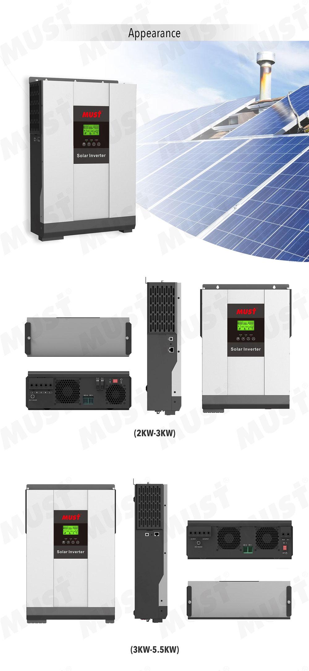 Harus PH1800 Seri Hibrida Tenaga Surya Inverter On/Off Grid Solar Energi Rumah Tangga Sistem 2kw 3kw 4kw 5kw 5.5kw Inverter
