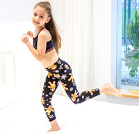 New Year Holidays Girl Kids leggings Winter Pants Christmas Soft Ginger Baby Prints Leggings For Children Wholesale