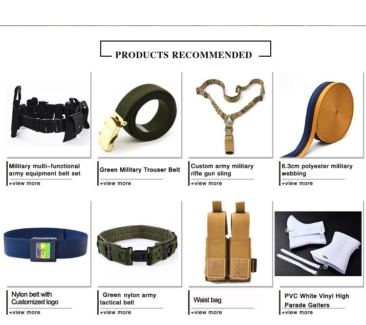 YUEMAI Manufacturer Wholesale Custom High Strength Combat Outdoor Police Army Military Tactical Uniform Web Waist Buckle Belt