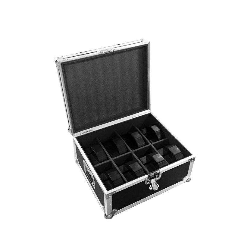Aluminum flight case for  8pcs/lot Disco DJ Mega Tri Par Profile Bright Stage LED Wash Light RGB Color Mixing 7x9W