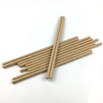 100pcs Free Samples FSC FDA Approved Kraft Premium Paper Drinking Straws Natural Brown Dye Free Paper Straws