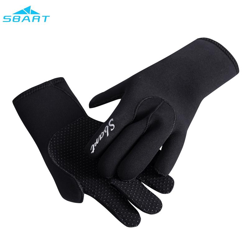 SBART new arrival 3mm neoprene gloves high quality antiskid diving gloves