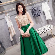 Женское вечернее Платье До Колена It's Yiiya AR492, элегантное платье с блестками и кисточками, вечернее платье с v-образным вырезом, 2020(China)