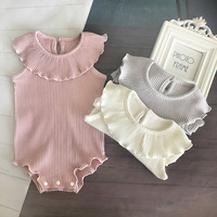 Fashion Flounce Collar Baby Clothes for Girls Stretch cotton infant toddler clothes high quality newborn baby romper clothing