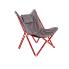 Multicolor Bespoke Leather Butterfly Chair Folding Red Frame In Leisure Area