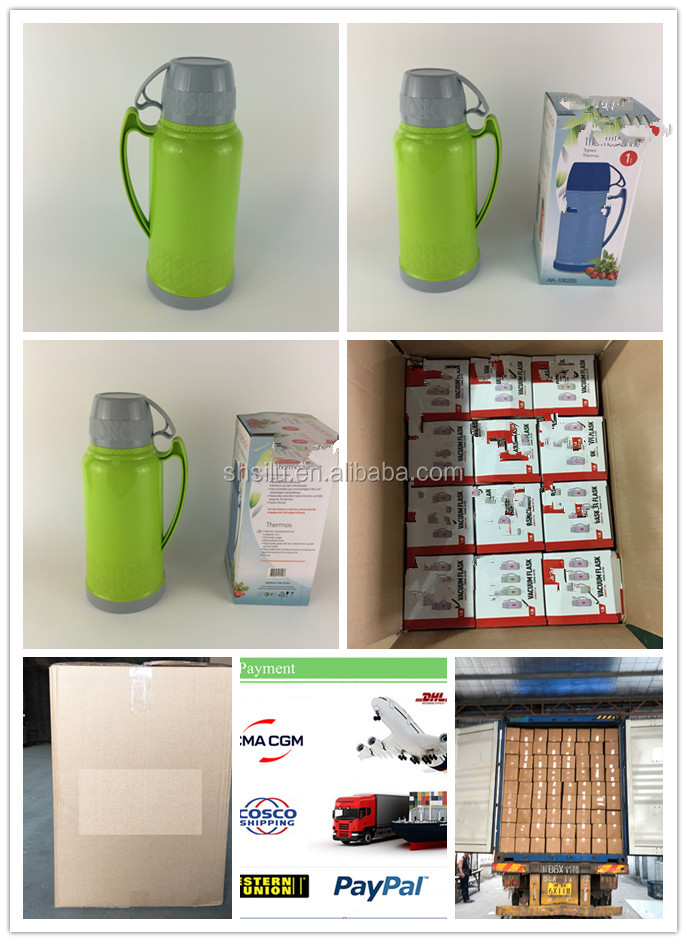 SL05100 1800 1.8L Home Use Plastic Vacuum flask Thermos with Glass Inside