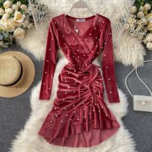 Корейские винтажные элегантные женские платья, вечерние сексуальные платья, весенне-летнее платье, женская одежда 2020, Vestidos Ropa Mujer ZT5384(Китай)