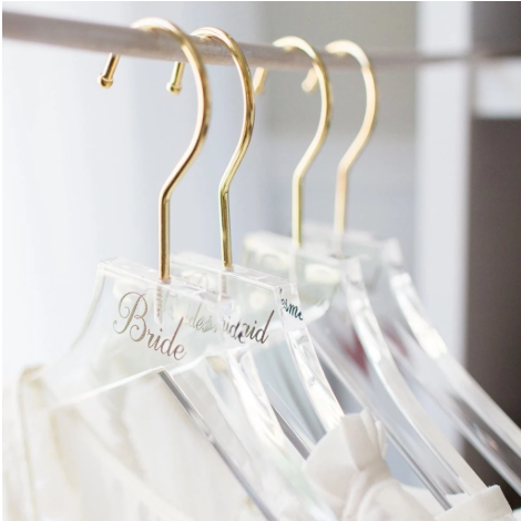 Manufacturer personalized Perspex Acrylic clothes  shirt  Hanger