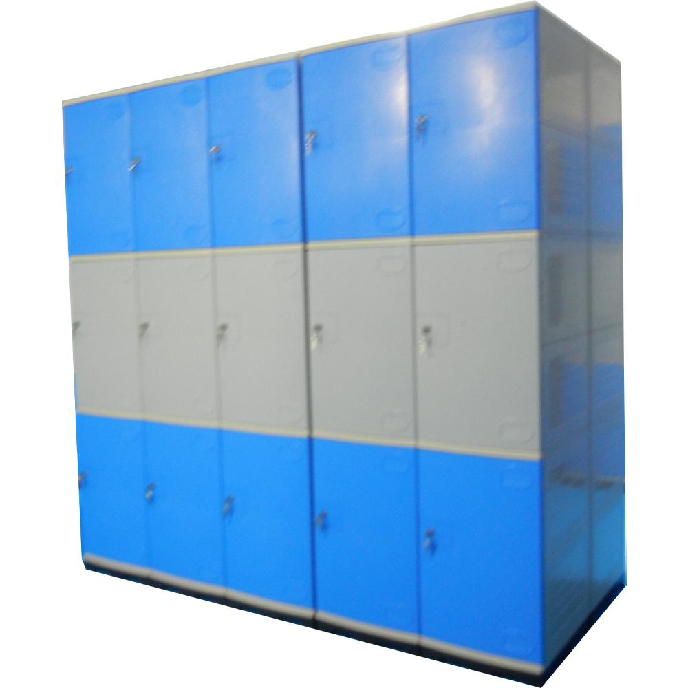 Armadietto di plastica Organizzatore 2 Porta Dell'armadio Armadio ABS Smart Locker Sistema