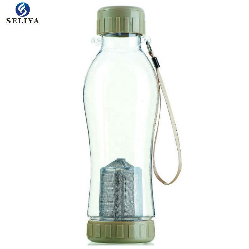 Fashion selling new  sports plastic water bottle with tea infuser