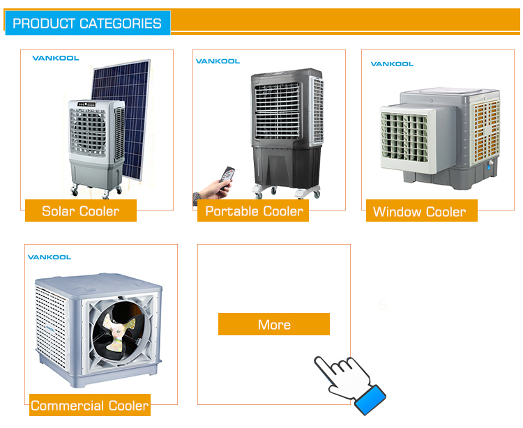 Double Penggemar Portable Evaporative Air Cooler dengan Es