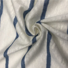 Yarn dyed fabric linen single jersey knitted fabric for clothing and dress