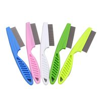 Pet cleaning products flea comb lice comb multicolor random hair pet accessories