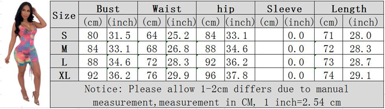 0070103 Wholesale tie-dye draped Lady Elegant Sexy bodycon Clothes Hot Night Evening Club Summer Women Girls' Casual Dress