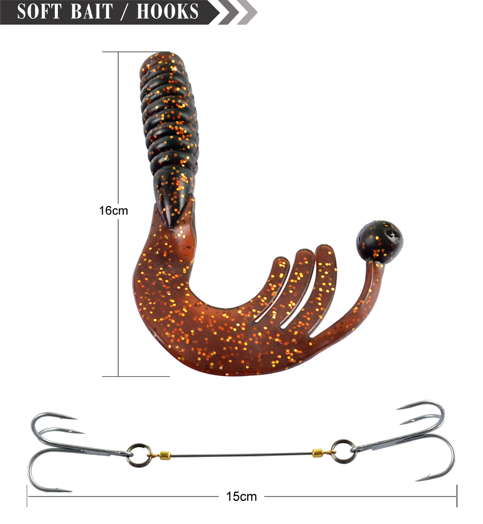 170mm 35g Fishing Hook With Feather Artificial Sea Fishing Lure Soft