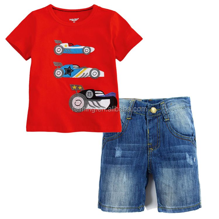 Children Clothing Summer Toddler Boys Clothes Set 2pcs Outfits Kids Clothes