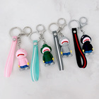 Bag Key Korean Cute Cartoon Big Mouth Shark Keychain Pendant Student Bag Car Key Pendant Keychain Creative Gift Wholesale