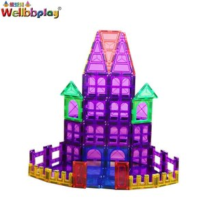 Hot sale Eco-friendly magnetic toys plastic magnetic building blocks for sale