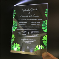 New Laser Cut Engraved Printing LED Wedding Invitation Card 3D Wedding Card