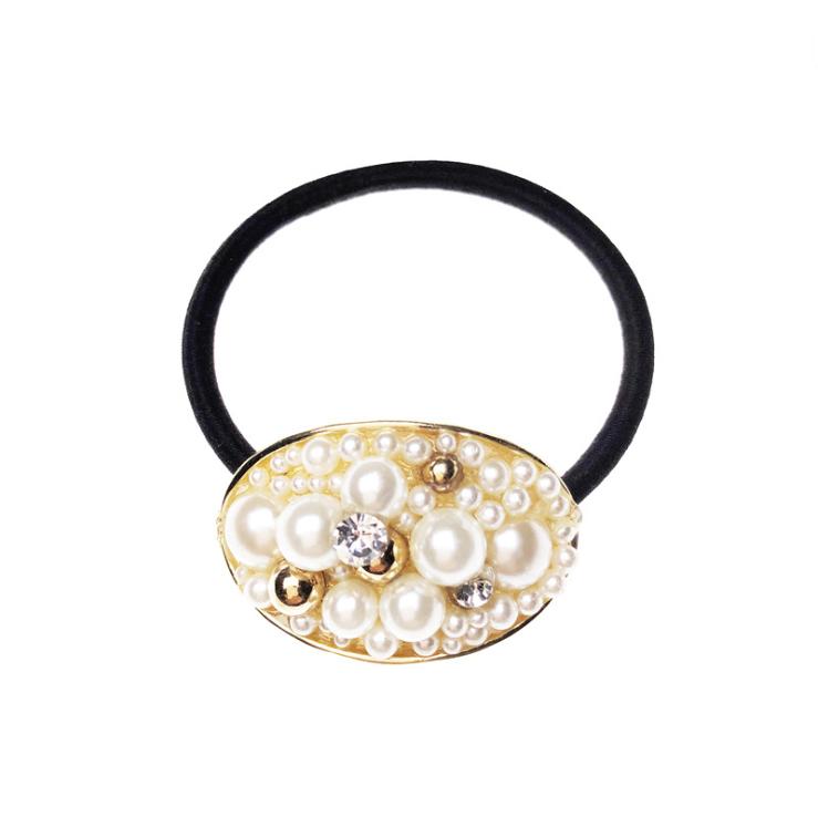 Simple Style Polyvalent Perle Anneau De Cheveux